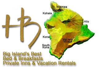 Big Island of Hawaii Bed & Breakfasts, Private Inns and Vacation Rentals on the big island of Hawaii