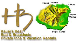Kauai Hawaii Bed & Breakfasts, Private Inns and Vacation Rentals on the island of Kauai, Hawaii